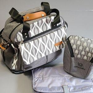 Backpack Diaper Bag, Bottle Bag, Change Pad